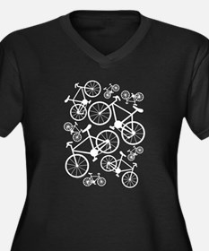 Bicycles Big and Small Women's Plus Size V-Neck Da