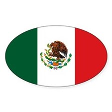 """Mexico Flag"" Oval Decal"