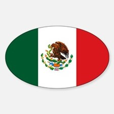 """""""Mexico Flag"""" Oval Decal"""