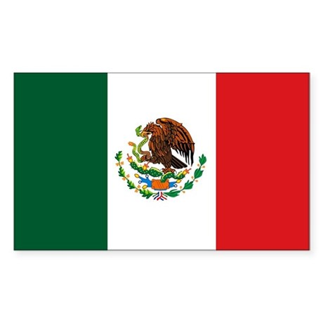 """Mexico Flag"" Rectangle Sticker"