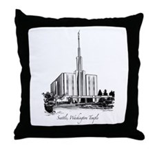 Seattle, Washington Temple Throw Pillow