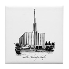 Seattle, Washington Temple Tile Coaster