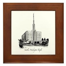 Seattle, Washington Temple Framed Tile