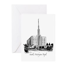 Seattle, Washington Temple Greeting Cards (Package