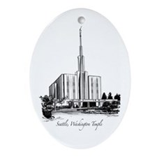 Seattle, Washington Temple Oval Ornament