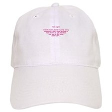 I am a girl Baseball Baseball Cap