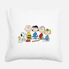 Peanuts Gang Square Canvas Pillow