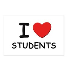 I love students Postcards (Package of 8)