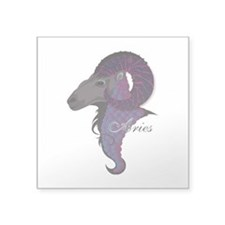 "Starlight Aries Square Sticker 3"" x 3"""