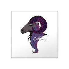 "Starlight Aries Square Sticker 3"" x 3"""