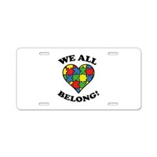 We All Belong! Aluminum License Plate