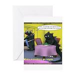 Vegan Godzilla Greeting Card
