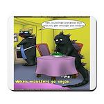 Vegan Godzilla Mousepad