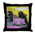 Vegan Godzilla Throw Pillow