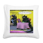 Vegan Godzilla Square Canvas Pillow
