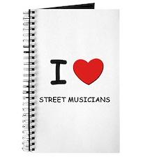 I love street musicians Journal