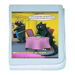 Vegan Godzilla baby blanket