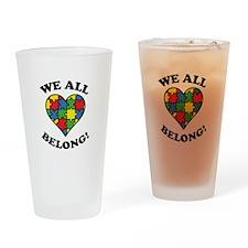 We All Belong! Drinking Glass