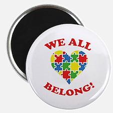 """We All Belong! 2.25"""" Magnet (10 pack)"""