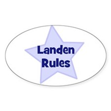 Landen Rules Oval Decal