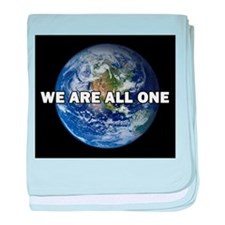 We Are All One 002 baby blanket