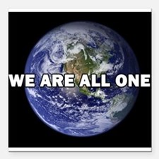 "We Are All One 002 Square Car Magnet 3"" x 3"""