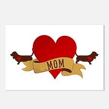Basset Hound Mom Postcards (Package of 8)
