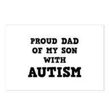 Proud Dad Of My Son With Autism Postcards (Package
