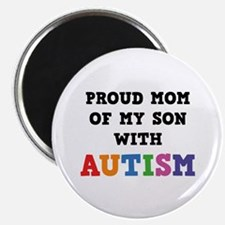 """Proud Mom Of My Son With Autism 2.25"""" Magnet (10 p"""