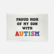 Proud Mom Of My Son With Autism Rectangle Magnet