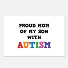 Proud Mom Of My Son With Autism Postcards (Package