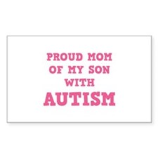 Proud Mom Of My Son With Autism Decal