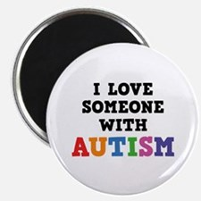 """I Love Someone With Autism 2.25"""" Magnet (10 pack)"""
