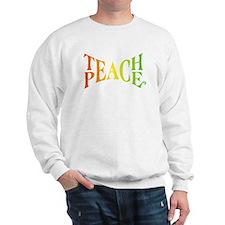 Teache Peace, Autism Awareness Sweatshirt