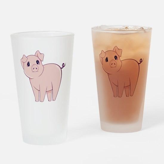 Cute little piggy Drinking Glass