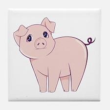 Cute little piggy Tile Coaster