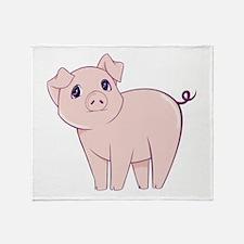 Cute little piggy Throw Blanket