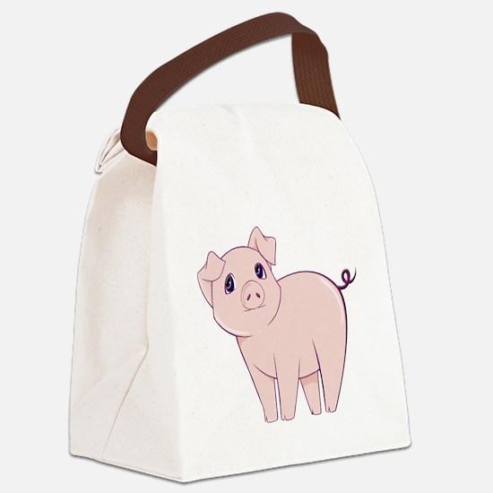 Cute little piggy Canvas Lunch Bag