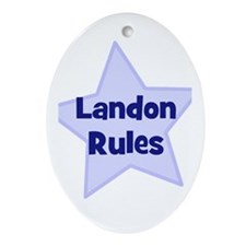 Landon Rules Oval Ornament