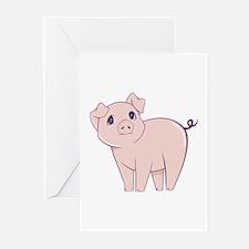 Cute little piggy Greeting Cards (Pk of 20)