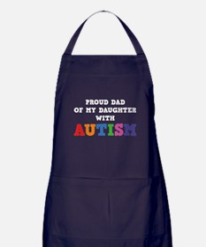 Proud Dad Of My Daughter With Autism Apron (dark)