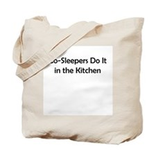 Co-Sleepers Do It in the Kitchen Tote Bag