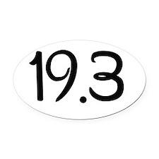 19.3 Oval Car Magnet