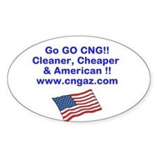 Go CNG Decal