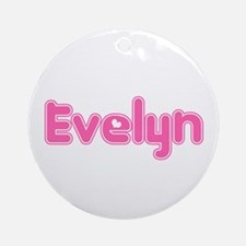 """Evelyn"" Ornament (Round)"