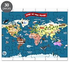 World Map For Kids - Lets Explore Puzzle