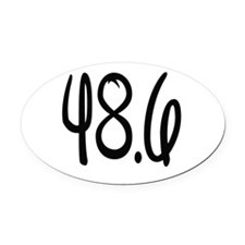 48.6 Oval Car Magnet
