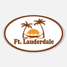 Fort Lauderdale - Palm Trees Design. Decal