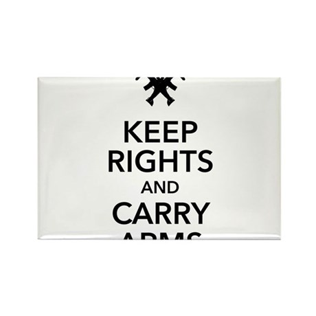 Keep Rights and Carry Arms Rectangle Magnet