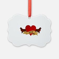 Australian Shepherd Mom Picture Ornament
